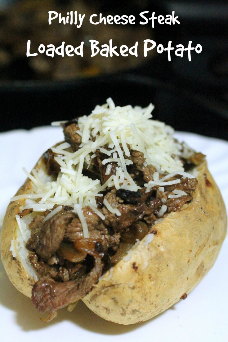 Kids Cooking: Philly Chese Steak Loaded Baked Potato Recipe