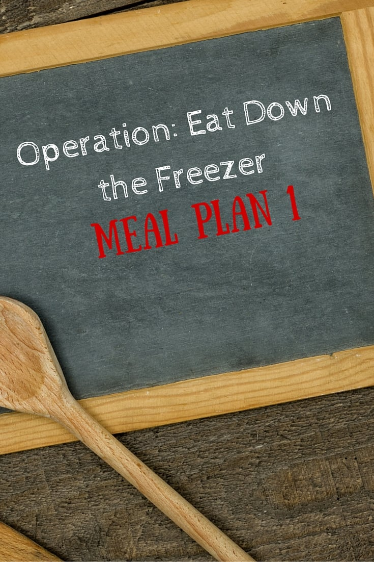 Operation- Eat Down the Freezer- Meal Planning meal plan 1