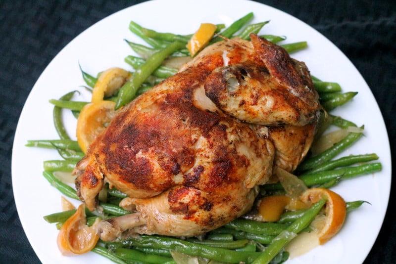 Slow Cooker Lemon Ginger Roast Chicken Recipe