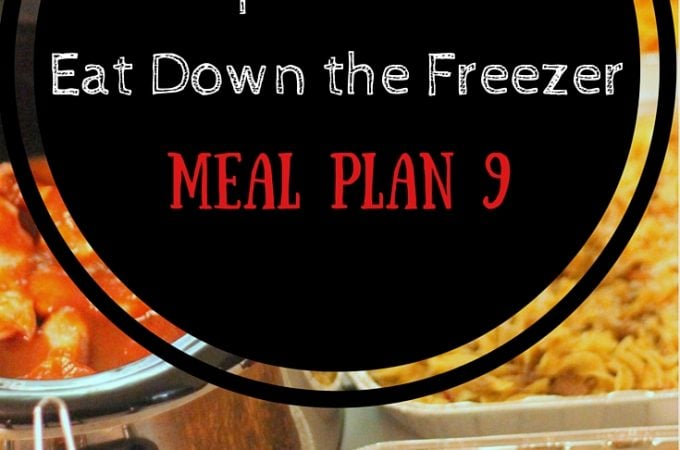 Operation: Eat Down the Freezer Meal Plan 9 - easy meal planning with food in the freezer