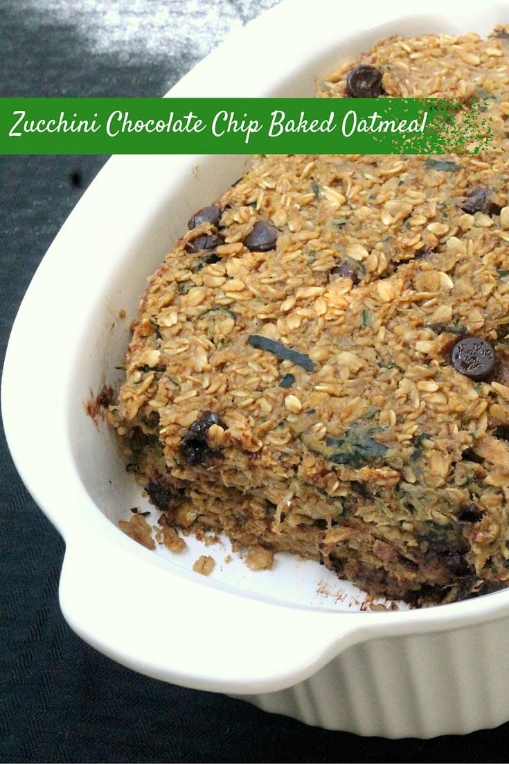 Zucchini Chocolate Chip Baked Oatmeal Recipe