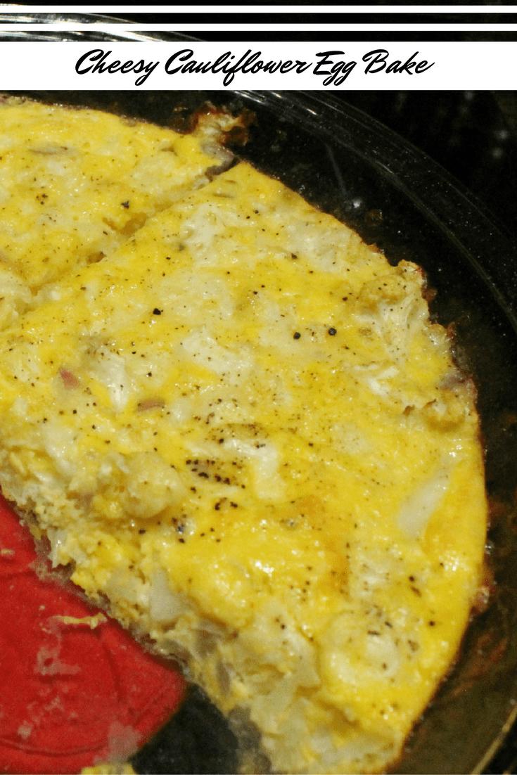 Cheesy Cauliflower Egg Bake Breakfast