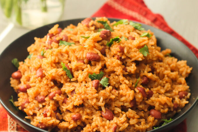 Easy Rice and Red Beans