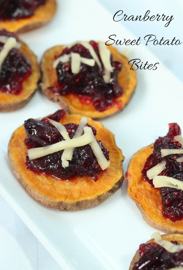 Cranberry Sweet Potato Bites - Appetizer Recipe