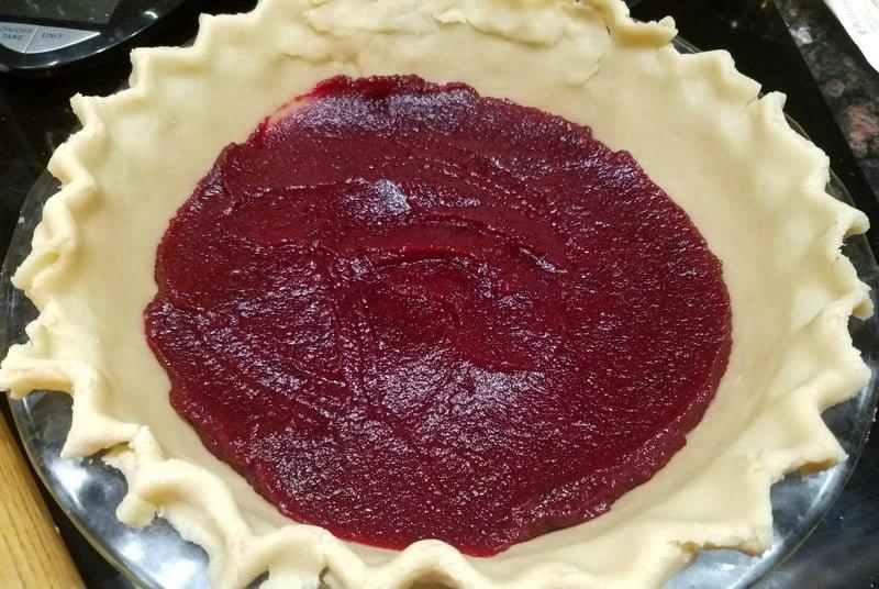 White Chocolate Cranberry Pie Step 4