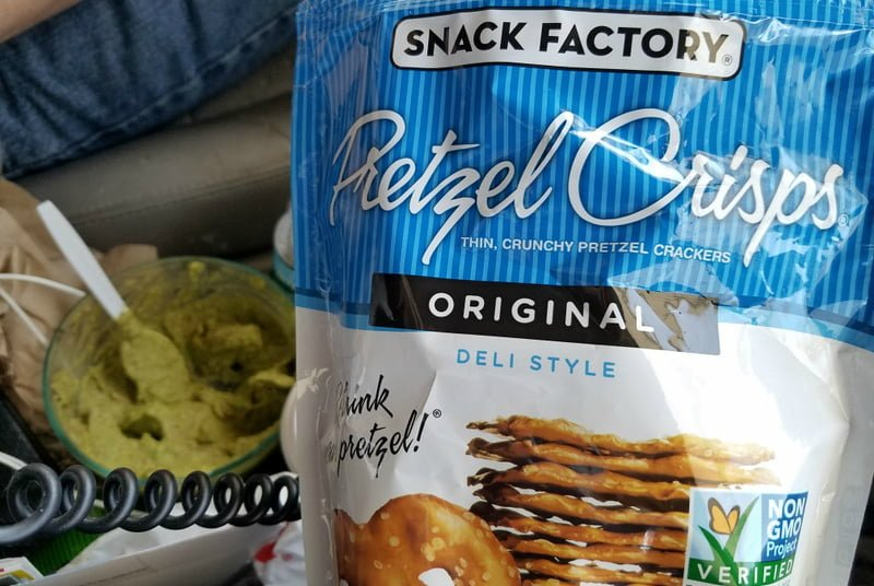 Pretzel Crisps and Guacamole