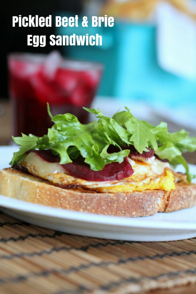 Pickled Beet & Brie Open-face Egg Sandwich Recipe