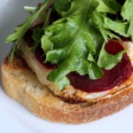 Pickled Beet and Brie Open-faced Egg Sandwich recipe