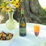 Blueberry Orange Mimosa with Riondo Prosecco and Blueberry orange Baked French Toast