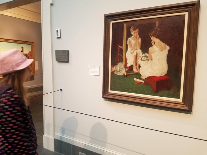 Norman Rockwell Museum Girl at Mirror Artwork