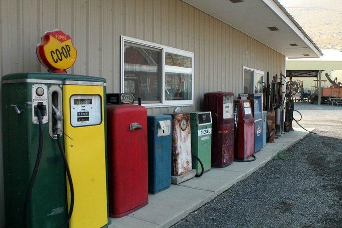 Central Washington Agricultural Museum Vintage Gas Pumps
