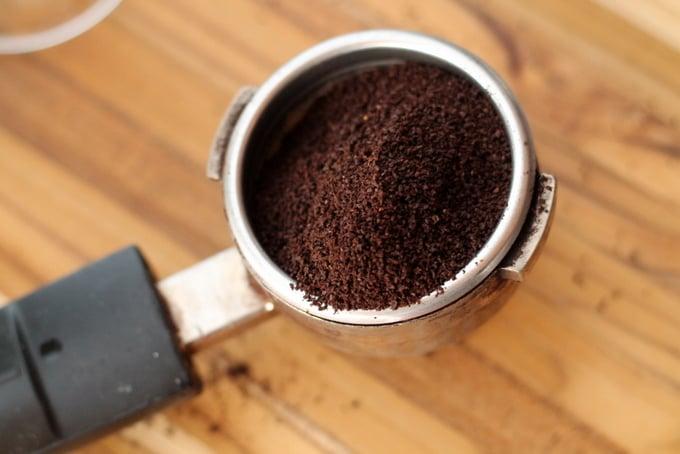 espresso grounds for Eggnog Latte Recipe