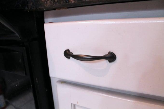 DIY Kitchen Makeover After drawer handles