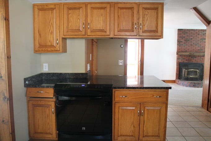 DIY Kitchen Makeover - Stove Wall