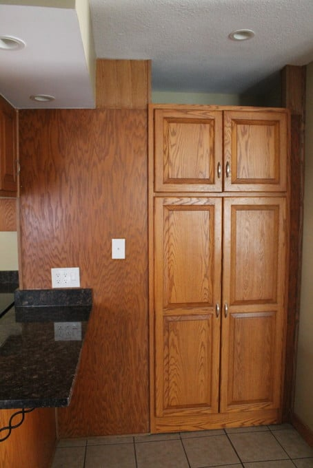 DIY Kitchen Makeover - Pantry Wall
