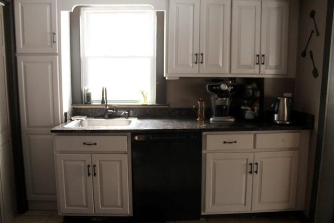 DIY Kitchen Makeover Sink Natural Light