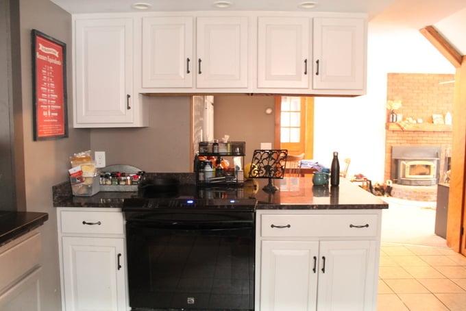 DIY Kitchen Makeover Stove Natural Light
