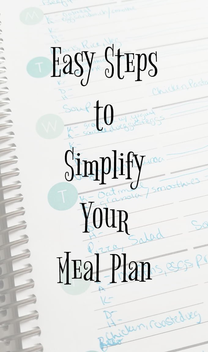Simplify easy meal planning steps