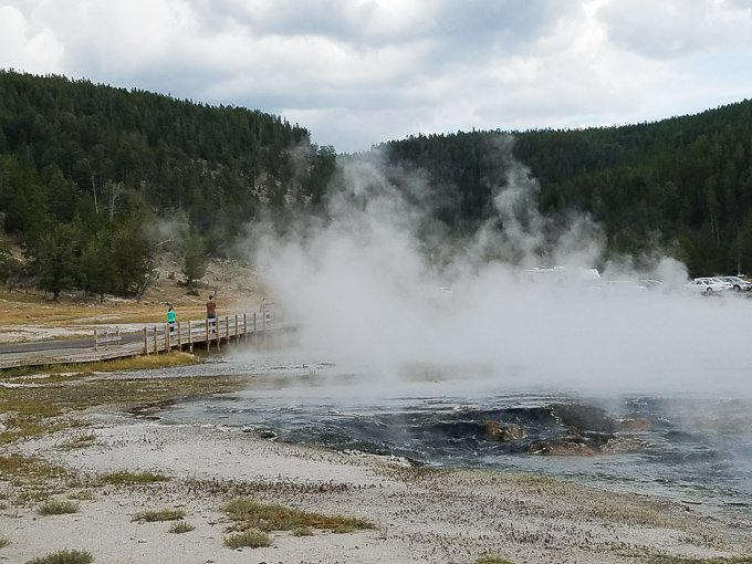 Hot Springs Yellowstone National Park