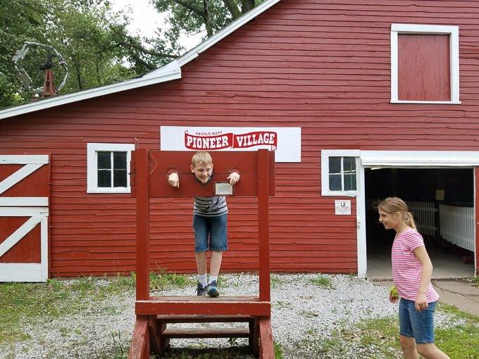 Pioneer Village Minden NE Town Stock
