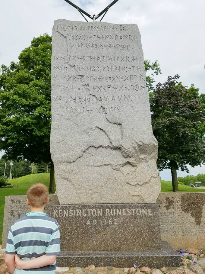 Roadside Attractions Minnesota Kensington Runestone Replica