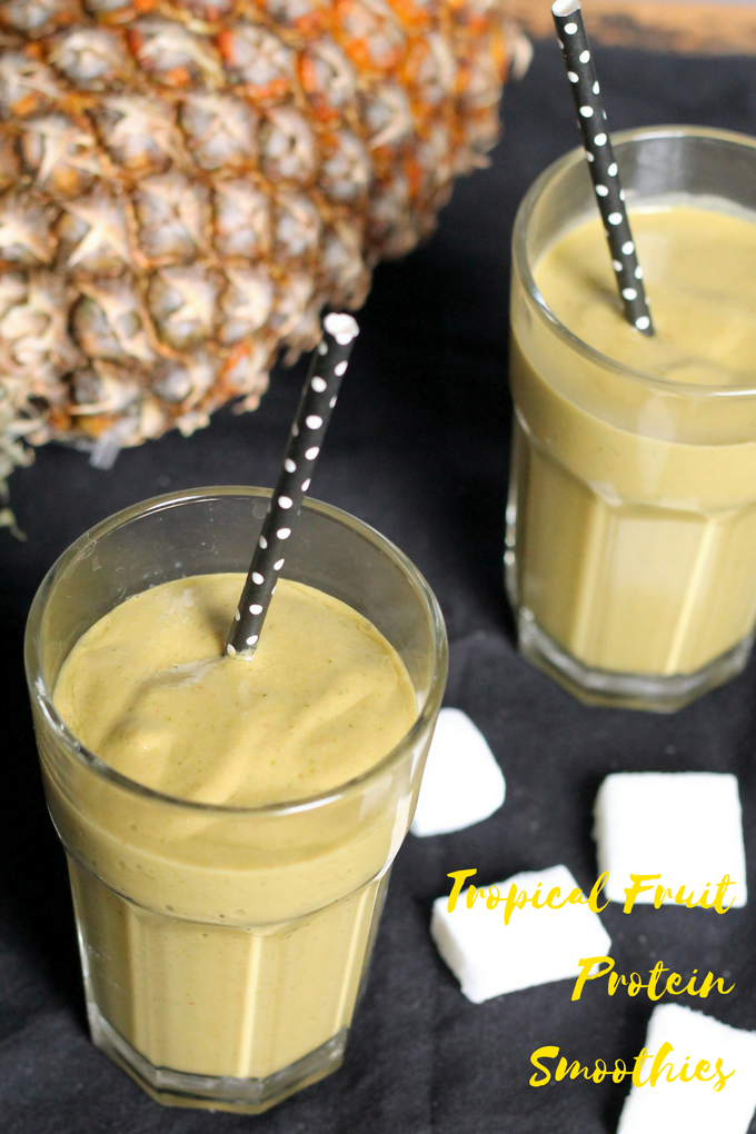 tropical fruit protein smoothies