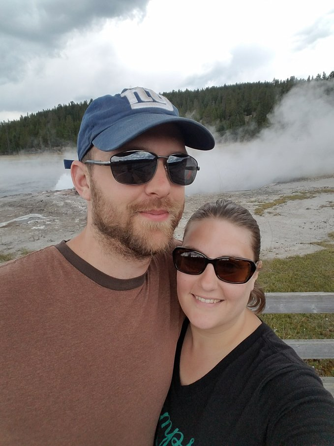 dave and heather Yellowstone National Park