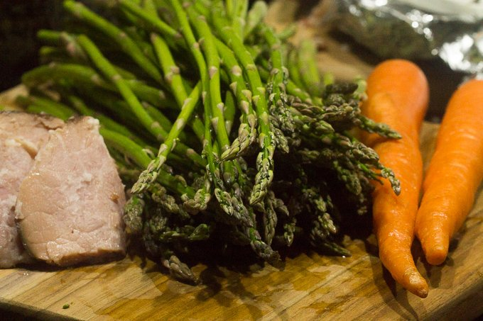 Ham Asparagus Carrots Ham and Asparagus Skillet Ingredients
