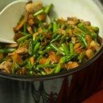 Ham and Asparagus Skillet