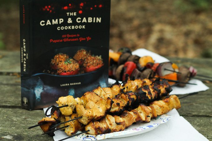 Persian Chicken Kebab with cookbook