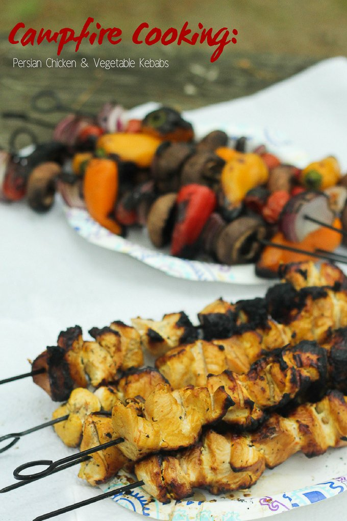 camping recipe persian chicken kebabs