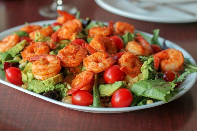 Garlic Sriracha Shrimp Salad Recipe