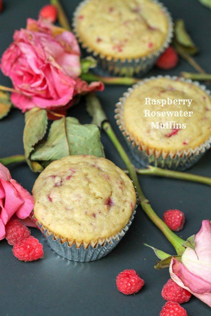 Raspberry Rosewater Muffin Recipe