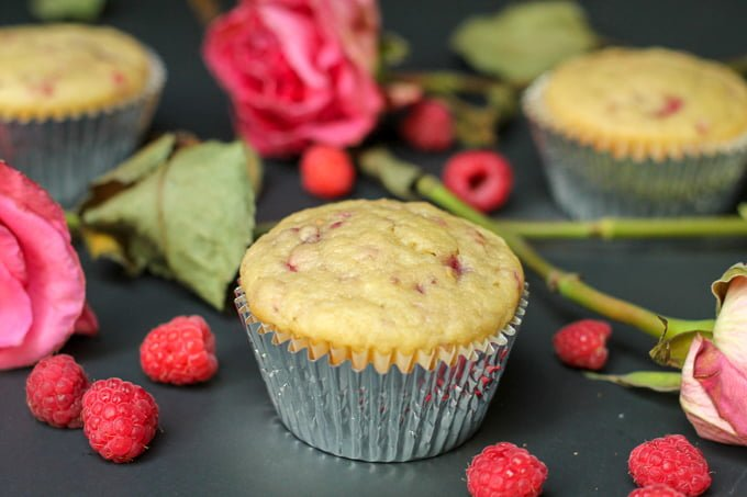 Raspberry Rosewater Muffin Recipe 2