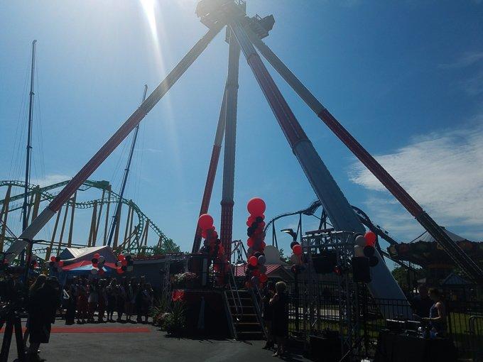 Six Flags New England Harley Quinn Spinsanity