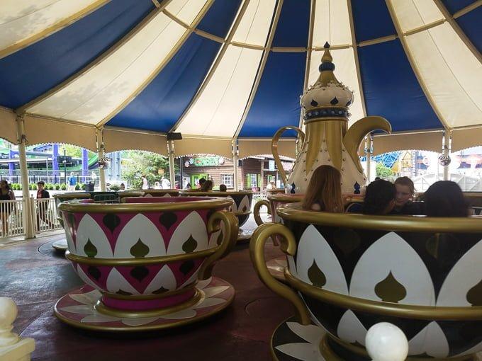 Six Flags New England Tea Cups