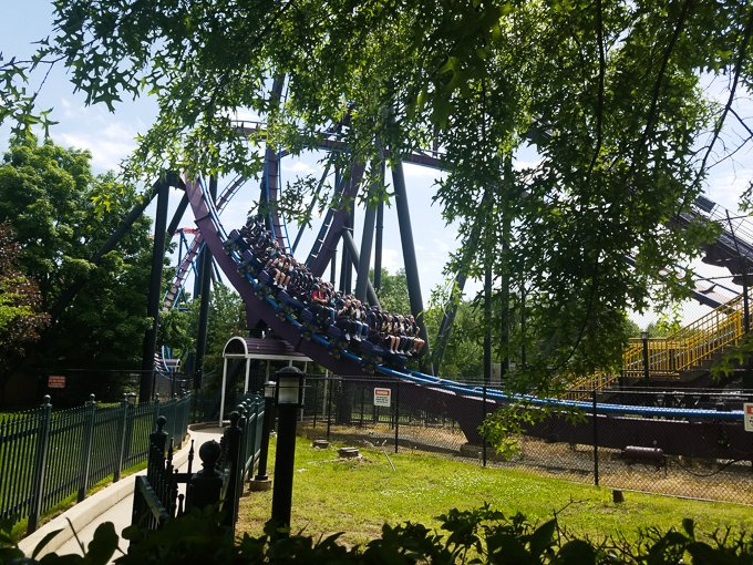 Six Flags New England roller coaster thrill ride