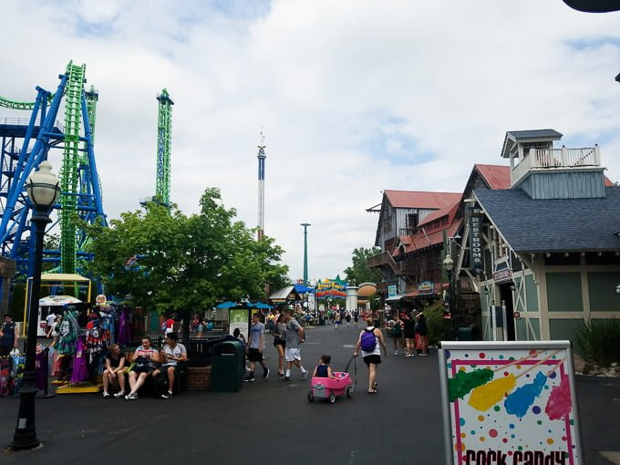 """Six Flags New England """"street"""" view"""