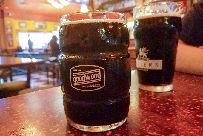 Park Lane tavern Fredericksburg Virginia Fuller's and Goodwood beer
