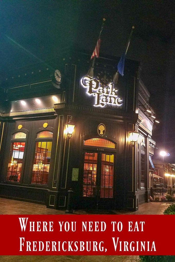 Where to Eat Fredericksburg Virginia