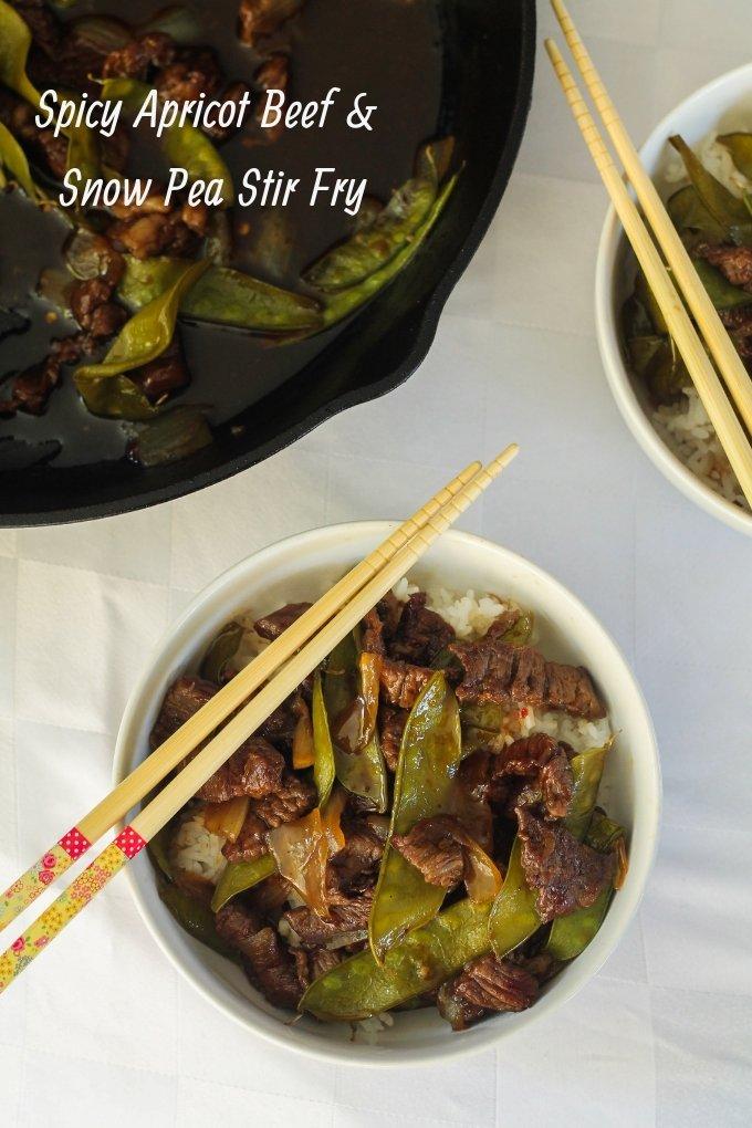 Spicy Apricot Beef & Snow Pea Stir Fry Recipe