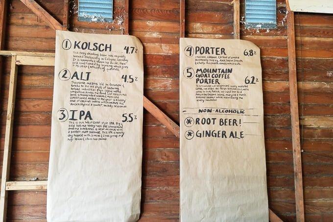 Packwood Washington Brewing Company