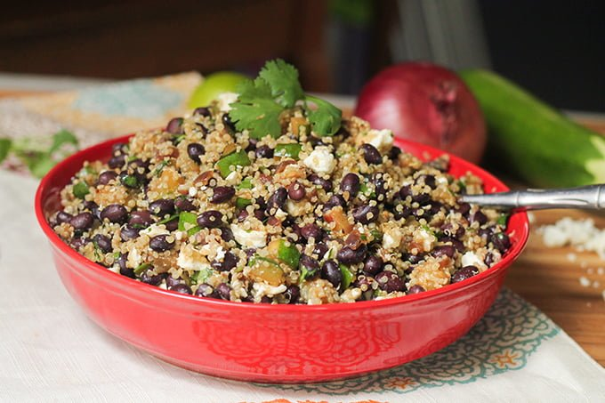 black bean, zucchini and quinoa salad