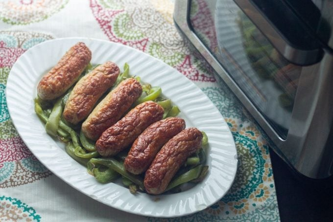 Air Fryer Sausage and Peppers